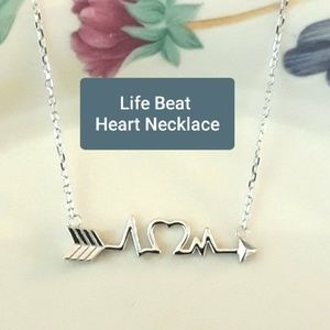 Jewelry - NEW S925 Life Beat  Heart Arrow Pendant